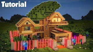 Minecraft: How to Build a Mob Proof Tree House Tutorial (Safe Redstone House)