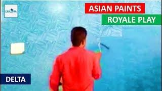 Asian Paints Royale Play Delta Texture Design Wall Painting