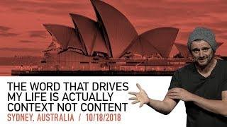 The Secret to Success Is Context, Not Just Content | Sydney Keynote 2018