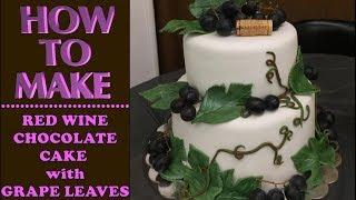 How to Make a RED WINE, CHOCOLATE CAKE with Caketastic Cakes