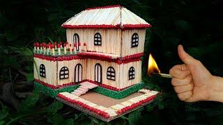 How to Make a Match House Fire at home - Amazing Match stick House Fire