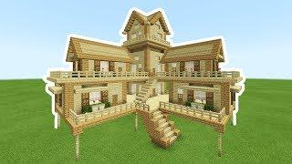 Minecraft Tutorial: How To Make A 2 Player Ultimate Wooden Survival House 2019