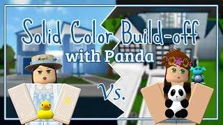 Bloxburg - Solid Color House Build-off w/ Da_PandaGirl