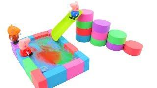 Learn Colors With Kinetic Sand How To Make Slime Pool Nursery Rhymes Song For Kids