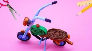 How To Make Haley Davidson Bike Paper   Craft Paper For Kids
