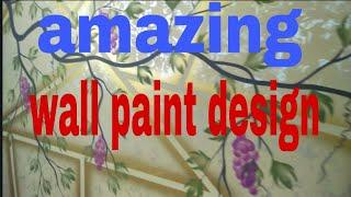 Amazing wall paint design  by Nazim