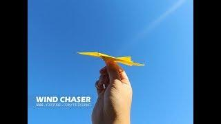PAPER AIRPLANE for KIDS - How to make a paper plane that flies | Wind Chaser