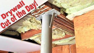 Drywall cut of the day- Soundproofing project tours