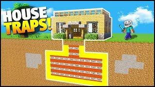 Minecraft: How To Build a House to Troll Your Friends! - Easy and Hidden Traps