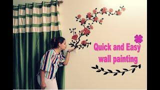 Best Home Decor Idea | Live Wall Painting | Easy wall Decoration Design DIY | 10 Mins Craft in Hindi