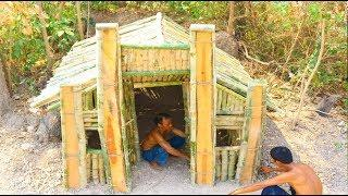 Building Bamboo Villa House Underground