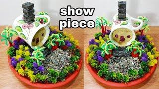How to make cup fairy house show piece