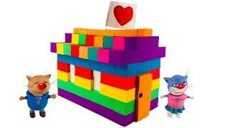How To Make Rainbow House from Kinetic Sand ⚡ MadMattr For Kids