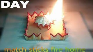 how to make a match fire strcks fire hut-match house