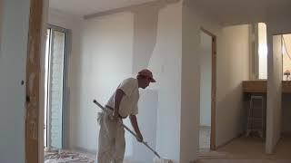 How to Paint a Wall - Why walls should be back rolled or to lay-off a wall