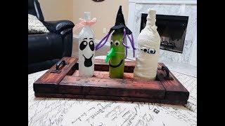 DIY Wine Crafts For Halloween | Decoracion Para Halloween Con Botellas