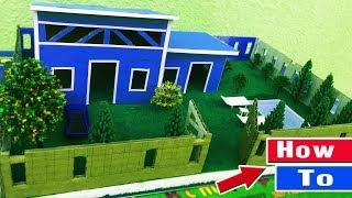 ✔How To Make A Beautiful Miniature Modern House By Cardboard - Very Easy With Paper Project
