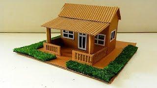 Cardboard House with Garden   DIY Easy Miniature Crafts #47