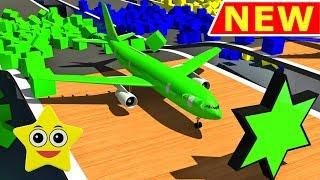 Shapes for kids with coloured planes & other education videos Sweet Star Kids