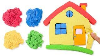 How to Make Kinetic Sand House Learn Colors for Kids