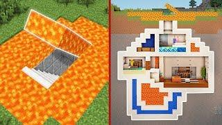 Minecraft: How to Build a Modern Secret Base Tutorial #3 - (Hidden House)