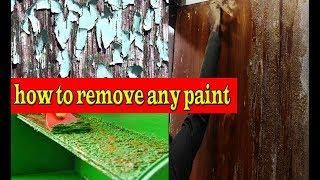 how to remove any paint//from metal/from wood/from walls/from furniture