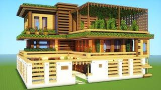 Minecraft: How To Build A Large Mansion House Tutorial ( 2018/2019 )