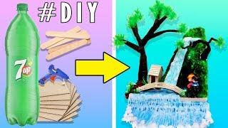DIY Waterfall, Tree and Mini House | Home Decor | Handmade | Decoration