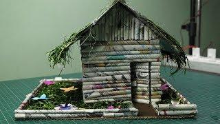 How to make a house out of newspaper | Newspaper craft idea