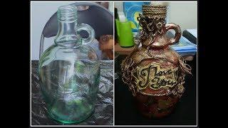 Beautiful Flower Vase Design from Wine Bottle | Glass Bottle Flower Vase Craft