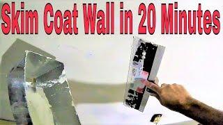 Skim a wall in 20 minutes step by step- Diy drywall tips