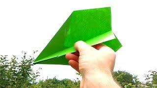 How to make paper plane easy - Flies FAST & FAR , BEST simple tutorial for basic airplane