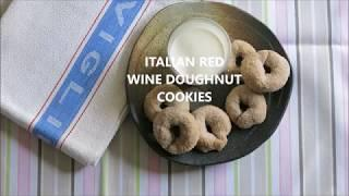 Italian Red Wine Doughnut Cookies