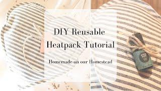 DIY reusable heat pack | How to make a microwaveable heat pack | Easy  beginner sewing project