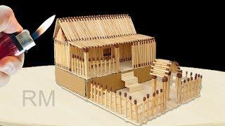 How to Make Match Stick House Fire at Home - Match Stick House *NEW*