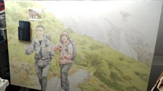 How to Paint A Big Acrylic Portrait with Glazes Part 2
