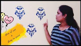 #DesignerWallPainting / Amazing Wall Painting / Free of cost & Easy to paint / My art / Simple me