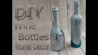 DIY wine bottles home decor