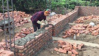 Latest Construction Techniques Wall Heat Resistant For House - How To Laying Bricks Easy