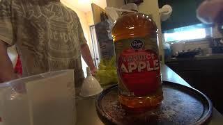 Making homemade Apple Cider wine.