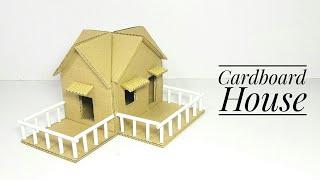 How To Make A Cardboard House | School Project For Kids | Cardboard House For School Project
