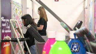 Flour Bluff students paint affirmations on restroom walls
