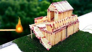 How to Make a Match House Fire at home - Match Stick House Garden By Amazing 180
