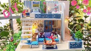 DIY miniature dollhouse- how to make the dollhouses-FLOWER HOUSE-Miniature with Jenny
