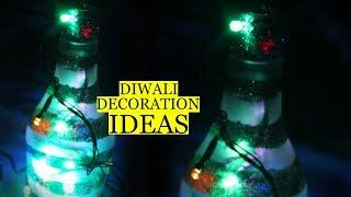How to Make wine Bottle lamp for 2018 diwali diwali lamp making ideas