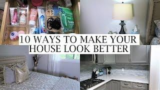 10 EASY & AFFORDABLE WAYS TO MAKE YOUR HOUSE LOOK BETTER | ERICA LEE