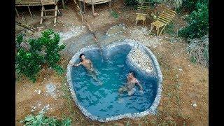 Build Swimming Pool Around Underground House-Part 3