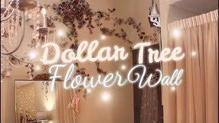 DIY DOLLAR TREE Flower Wall from My Room Tour Video