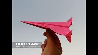 COOL PAPER AIRPLANE - How to make a Paper Airplane for Kids | Duo-Plane