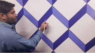 3d wall decoration effect | 3d wall painting | 3d wall texture new design ideas | interior  design